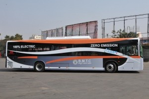 Electric bus service debuts in Bangalore
