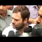 Rahul Gandhi unite protesting Congress MPs in well of Lok Sabha