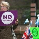 Scottish voters assemble in kilts and saltires to pick their fate