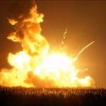 Nasa rocket headed for space station blasts after liftoff